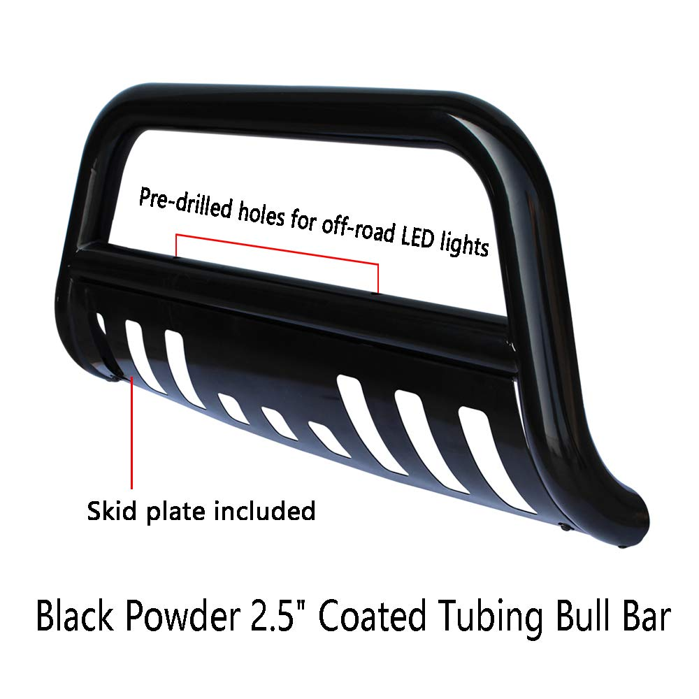Tuokiy Black Bull Bar Bumper Grille Guard For 04 17 Ford F150 03 Wiring Harness Expedition With 126w Led Light Free Wb015030 Brush