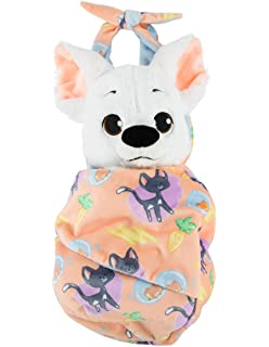Disney Parks Baby Bolt Dog Puppy in a Pouch Blanket Plush Doll