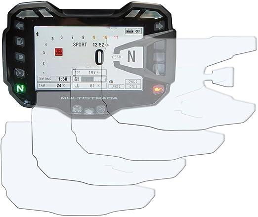 Speedo Angels Sadu522 Dashboard Screen Protector for Ducati Multistrada 1200 2 x Ultra Clear /& 2 x Anti Glare 2010-2014