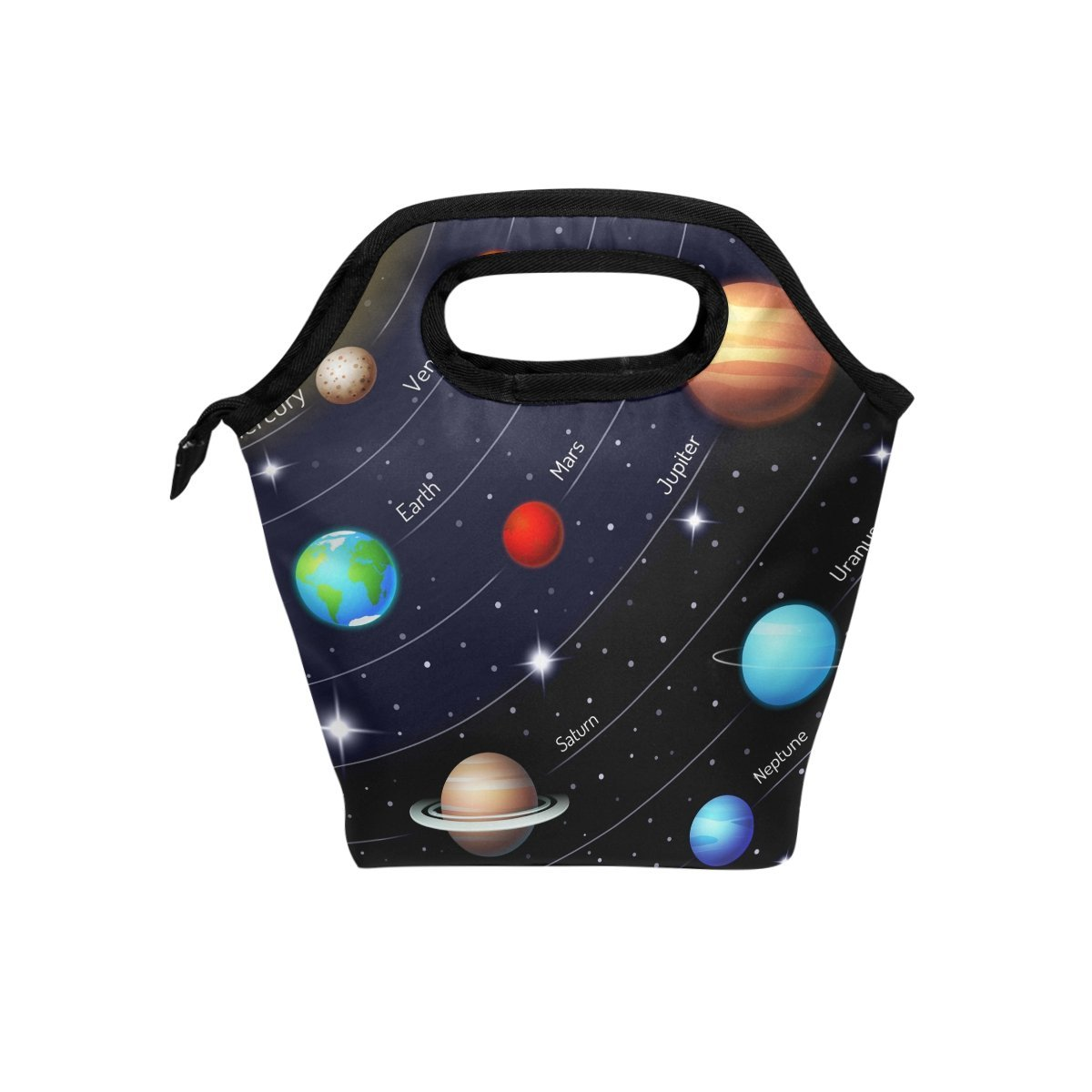 Bettken Lunch Bag Universe Galaxy Solar System Insulated Reusable Lunch Box Portable Lunch Tote Bag Meal Bag Ice Pack for Kids Boys Girls Adult Men Women