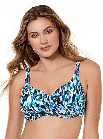 b70d716f0 Miraclesuit Women's Swimwear Caspiana Surplice D-DDD Cup Bra Sized Bikini  Bathing Suit Top,