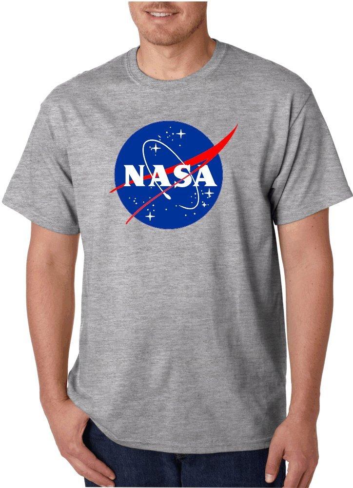 NASA Logo Gray T-Shirts (Large, Gray)