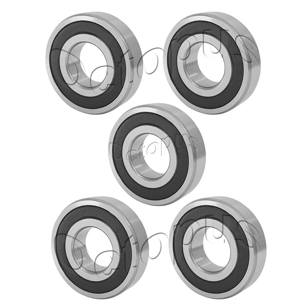 5 Pcs Premium R12 2RS Rubber Sealed Deep Groove Ball Bearing 3//4x1-5//8x7//16/""