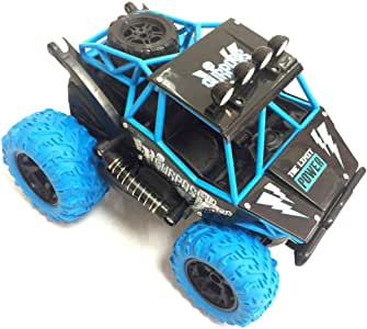 RC Car Rock Crawlers 4x4 Driving Car Double Motors Drive Bigfoot Car Remote Control Car Model Off-Road Vehicle Toy (Blue) Birthday Christmas Gift