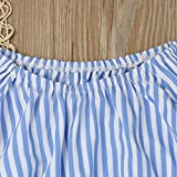 Vovotrade Toddler Baby Girl Off Shoulder Stripe T Shirt Top+Jeans Pants Outfit Clothes Set