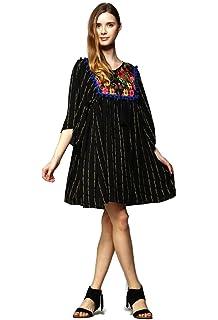 656f8ca2d96 Velzera Women's Vintage Embroidered Tunic Mini Dress Boho Chic reg & Plus  Size
