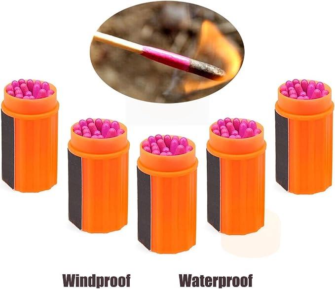 Cerillas supervivencia fosforos emergencia encendedor impermeable caja estanca: Amazon.es: Deportes y aire libre