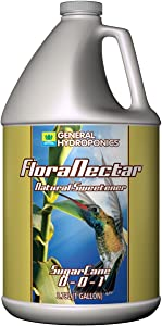 General Hydroponics GH1743 FloraNectar Sugarcane, Formulated with Minerals & Natural, Contains A Mix of Magnesium, Molasses, Potassium Sulfate, 0-0-1 NPK, 1 Gallon