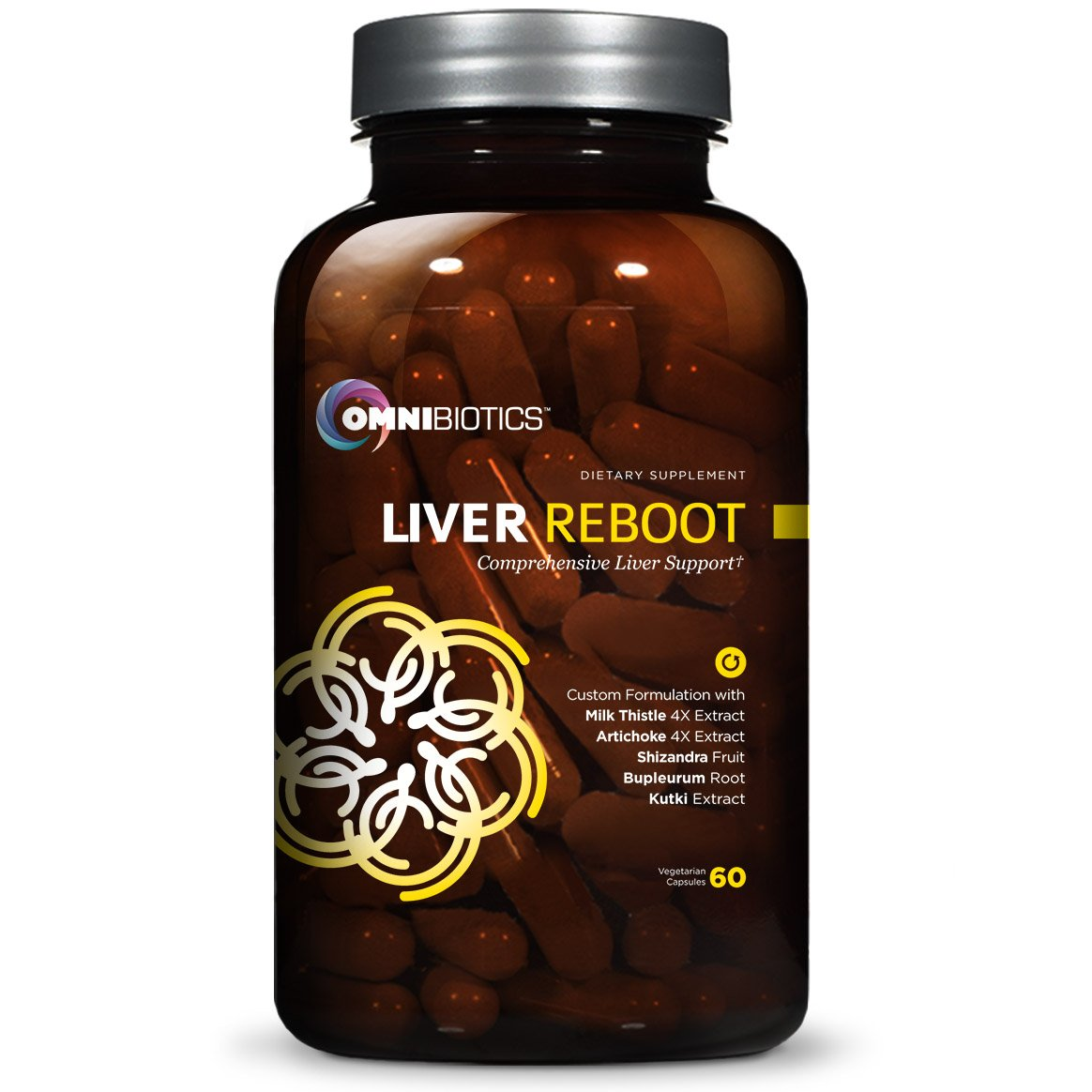 Liver Detox Supplement, Liver Cleanse Support | Milk Thistle Extract, Globe Artichoke, NAC, Bupleurum Root | 60 Vegan Capsules by OmniBiotics