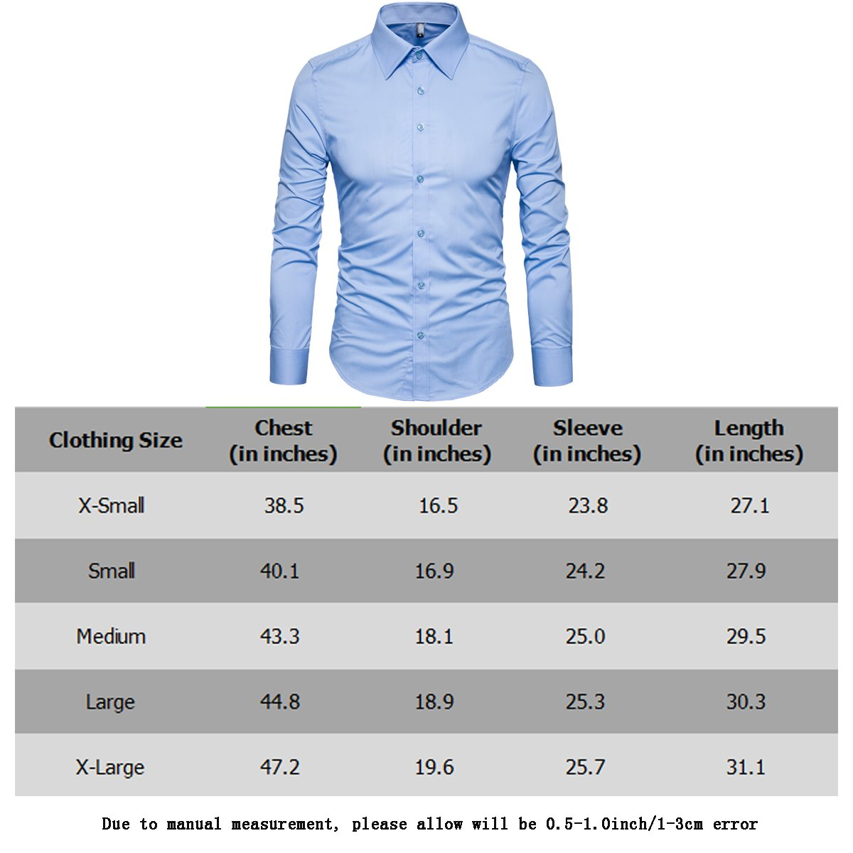 Manwan walk Men's Slim Fit Business Casual Cotton Long Sleeves Solid Button Down Dress Shirts (Large, Wine red) by Manwan walk (Image #7)