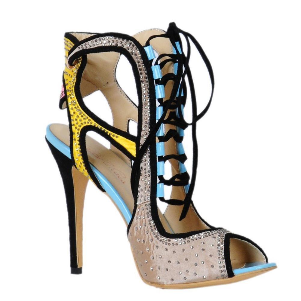 Elobaby Damenschuhe Pelz Herbst Winter Schnee Stiefel Mode der Stiefel Mitte der Mode Kalb Stiefel für Party & Abendkleid Schwarz Gray d970a3