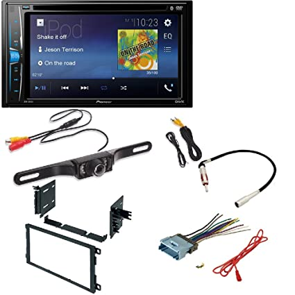 amazon com: pioneer double din cd player radio dash install kit harness  antenna bluetooth: car electronics