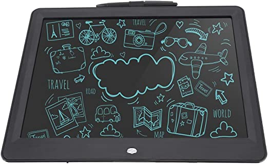 ライティングボード、軽量15インチライティングタブレット、オフィス用キッズ用ブラック