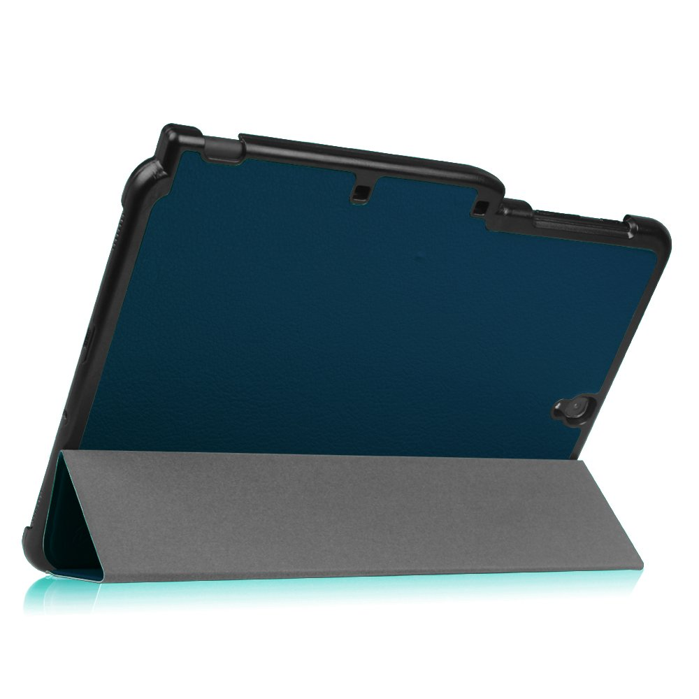 f0a2c33d2dc Reposo/Activación para Modelo de SM-T820/T825 Súper Delgada y Ligera  Carcasa con Función de Soporte y Auto Azul Oscuro Fintie Funda para Galaxy  Tab S3 9.7 ...