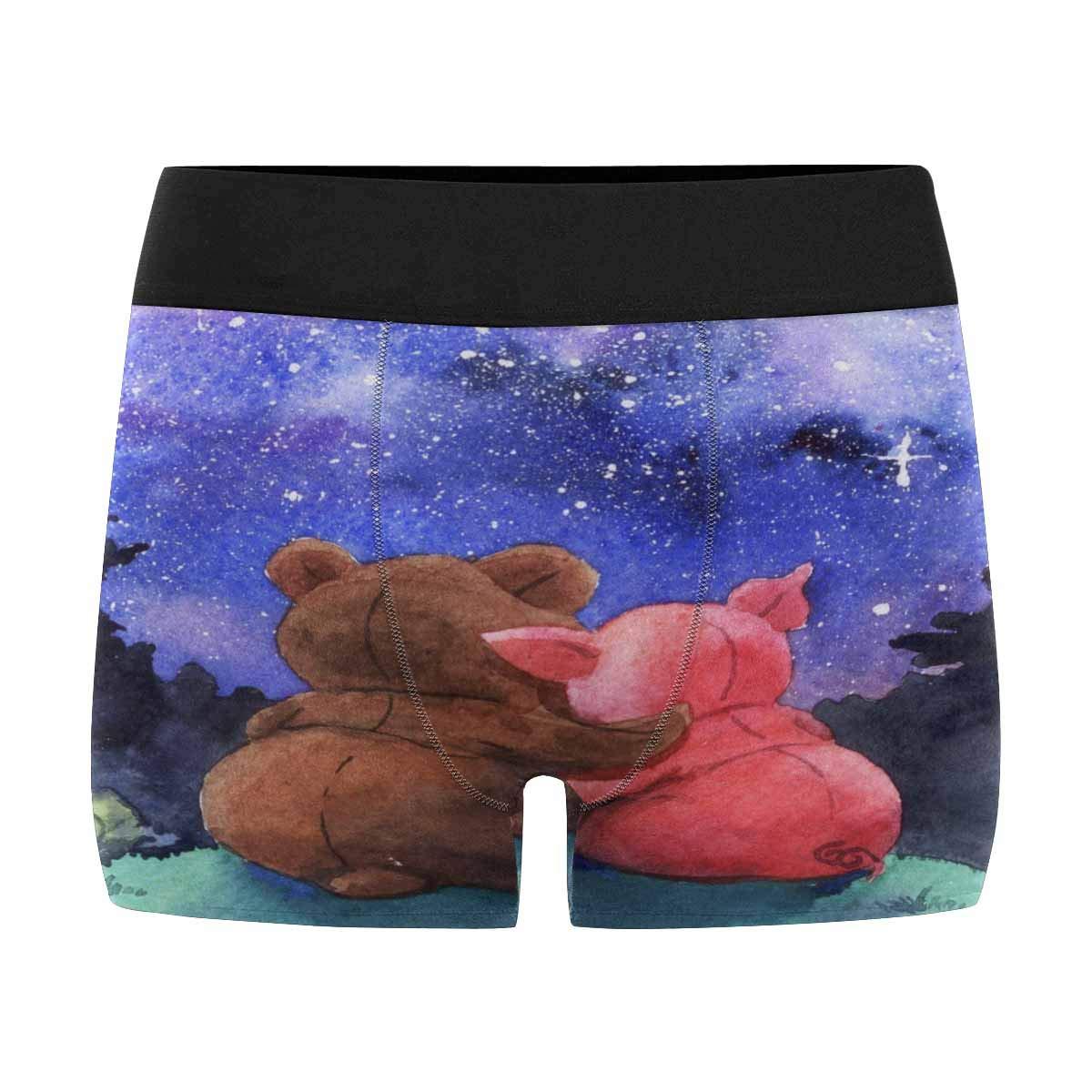 XS-3XL INTERESTPRINT Mens Boxer Briefs Bear Pig Hugs Star