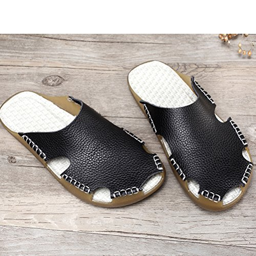 Mallimoda Women's Summer Beach Sandals Slip On Slippers Pool Shoes Black MX5nMEfYPp