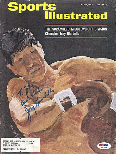 Joey Giardello Signed 1984 Sports Illustrated Magazine - ...