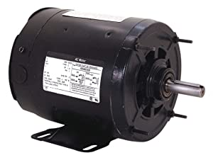 Century 3/4 HP Belt Drive Motor, Split-Phase, 1725 Nameplate RPM, 115 Voltage, Frame 56Z OS2074-1 Each