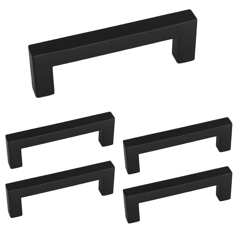 homdiy Black Drawer Pulls 3 inch Black Cabinet Handles 5 Pack HDJ12BK Black Cabinet Knobs Matte Black Cabinet Hardware Kitchen Cabinet Handles Black Cabinet Pull