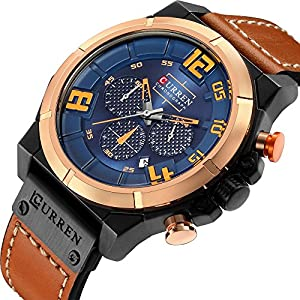 CRRJU Brand Men's Quartz Watches,Multifunction Army Men Sport Waterproof Chronograph Wrist Watches