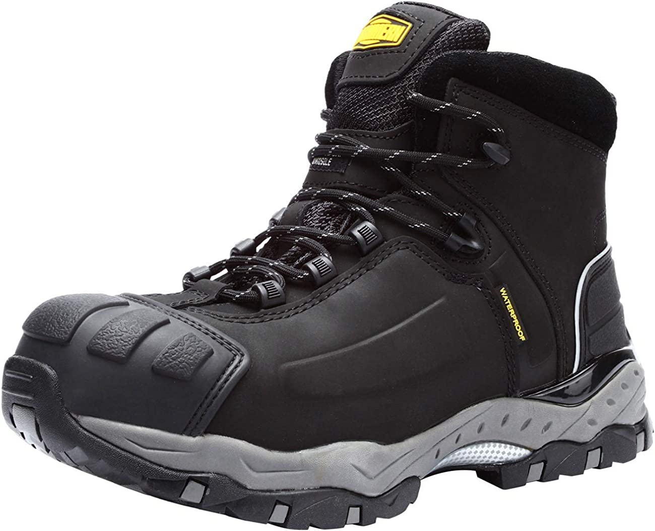 LARNMERN Steel Toe Work Boots Men Waterproof HRO Heat & Slip Resistant S3 Safety Shoes