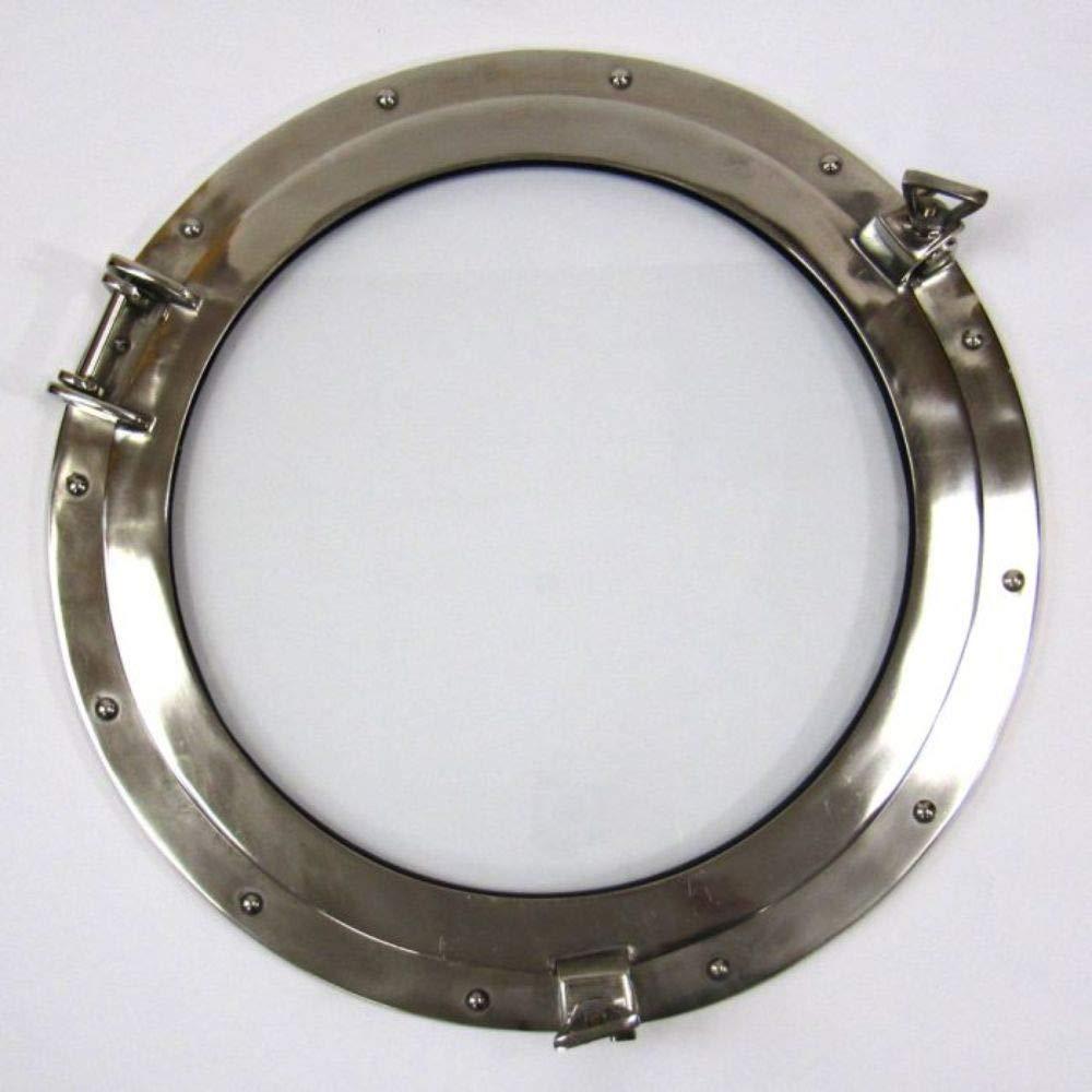 20inch Aluminum Porthole Window Chrome Finish - Nautical Decor ITDC AL 486110C