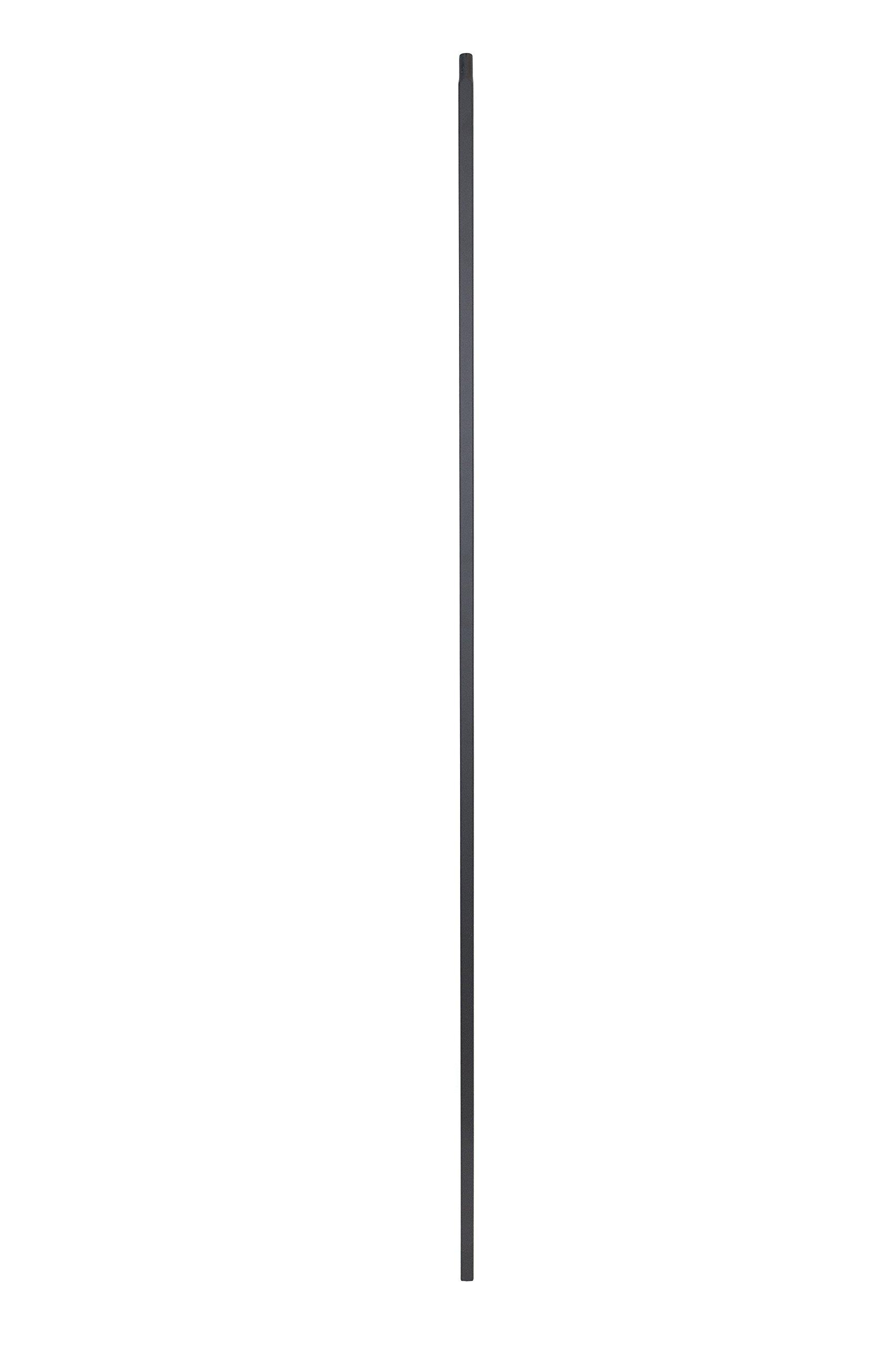 Iron Balusters - Standard Plain - Hollow - 44'' Tall - 1/2'' Square - Box of 15 (Satin Black)