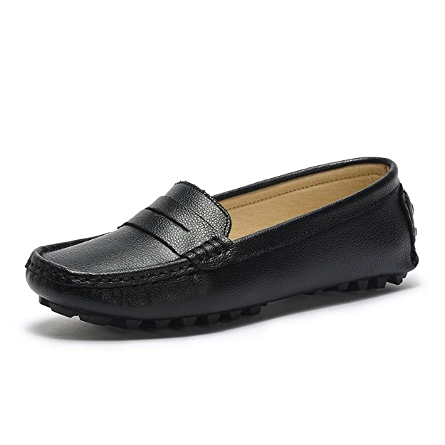 Amazon.com | Artisure Womens Classic Genuine Leather Penny Loafers Driving Moccasins Casual Slip On Boat Shoes Fashion Comfort Flats | Loafers & Slip-Ons