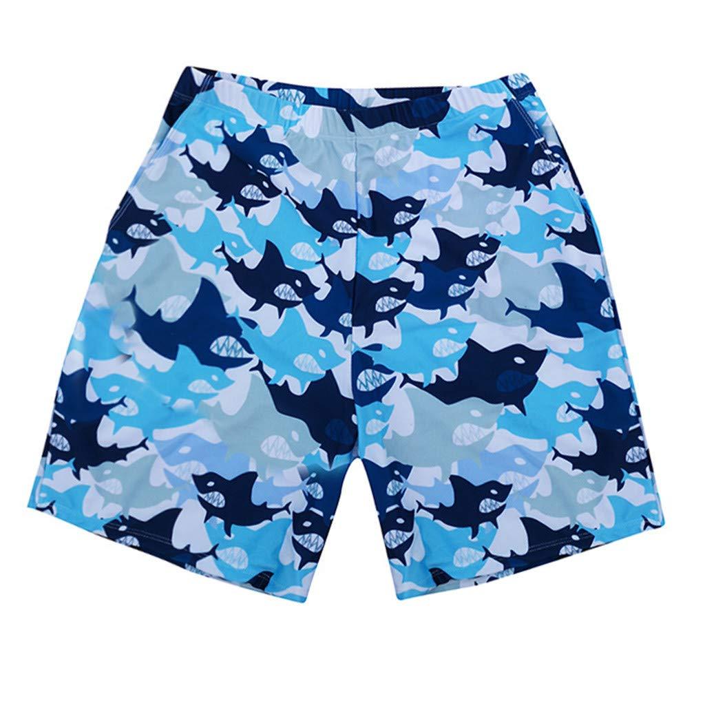 NUWFOR Men Daddy Swimwear Running Surfing Sports Beach Shorts Trunks Board Pants(Blue-Dad,US:M Waist28.4-32.3'')