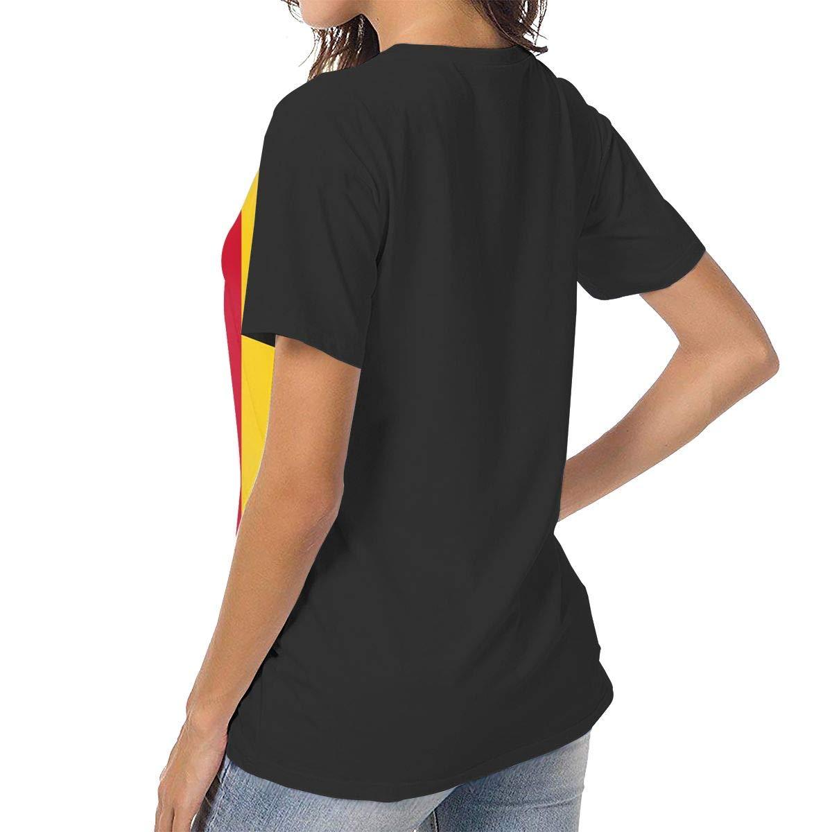 IRON1974 Womens Flag of Romania Short Sleeve T-Shirt Baseball Tees