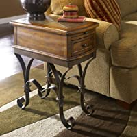 Stone Forge Chairside Table in Tuscan Sun Finish