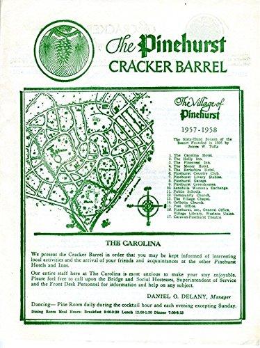 the-pinehurst-cracker-barrel-newsletter-the-carolina-hotel-1958-north-carolina