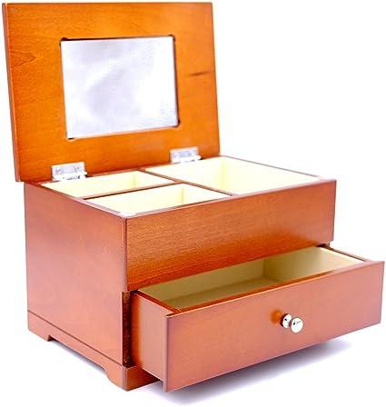 Scatola per gioielli cofanetto portagioie in legno ciliegio
