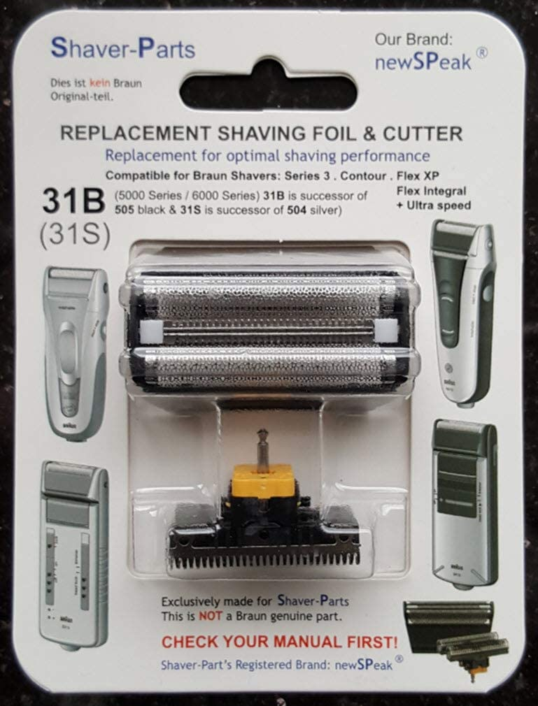 Reemplazo alternativo Braun - Cuchilla de afeitar eléctrica 31B (505 negro), compatible con Series 3 (5000/6000 Series): Amazon.es: Salud y cuidado personal