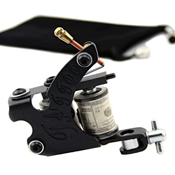 Amazon.com: York Coil Tattoo Machine Black 10 Wrap Coils Steel ...