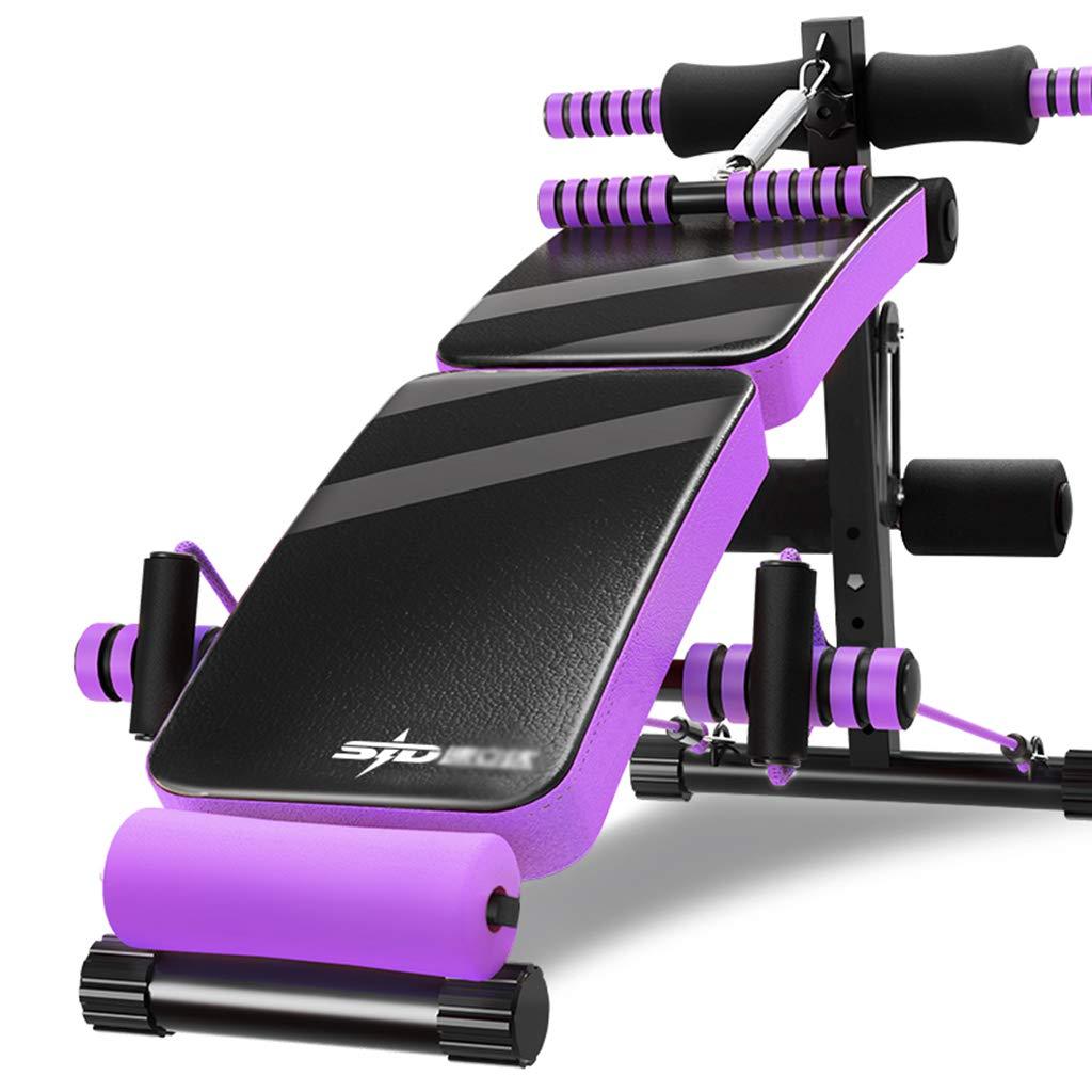 腹筋ボード折りたたみ式腹筋フィットネスチェア腹部多機能、3色選択  purple B07RBNZ8T4