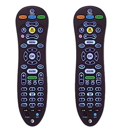 AT&T U-Verse S30 Universal Remote Control Blue Back Light (S30-S1B)  CY-RC1057-AT - Set of 2