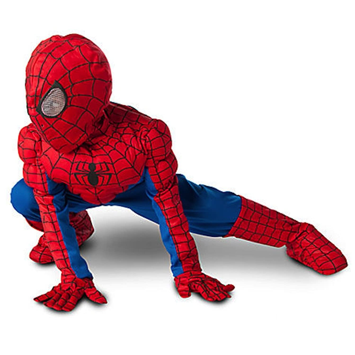 61G9ECymUsL._UL1500_ amazon com ultimate spider man muscle child costume toys & games  at crackthecode.co