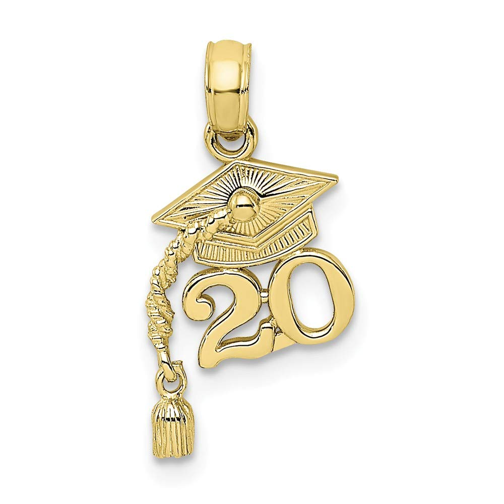 10k Yellow Gold Graduation Cap 20 Dangling Tassle Pendant Charm Necklace Fine Jewelry Gifts For Women For Her