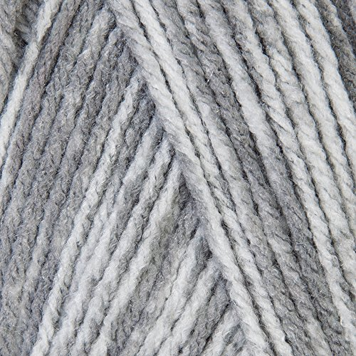 Mary Maxim Starlette Yarn - Grey Heather - 100% Ultra Soft Premium Acrylic Yarn for Knitting and Crocheting - 4 Medium Worsted Weight ()