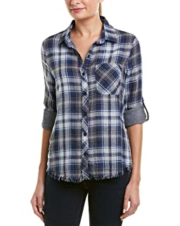 e62dac929a Beach Lunch Lounge Womens Plaid Button Up Shirt Black S at Amazon ...