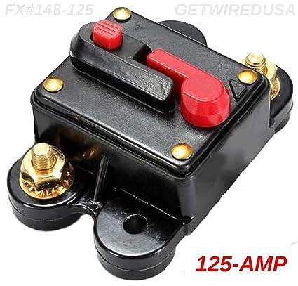 Amazon com: 125-AMP Circuit Breaker Waterproof Inline Fuse