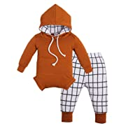 Shop the Look Memela(TM) NEW Fall/Winter Unisex Baby Layette Gift Set Rompers Hoodie Onesie (3-6 mos)