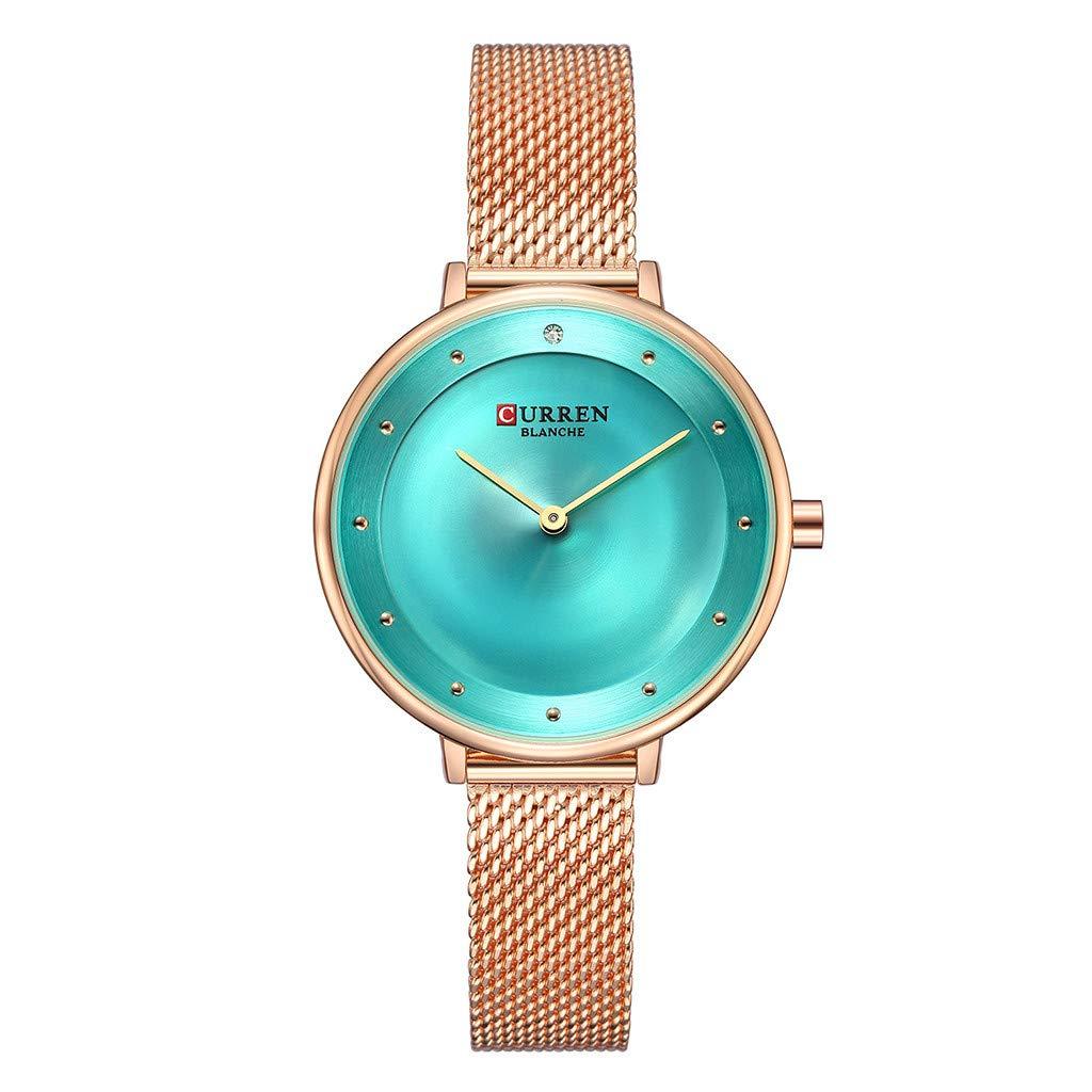 Small Dial Waterproof Round Casual Quartz Mesh Belt Wrist Classics Gifts Strap Vintage Ladies Women Watch