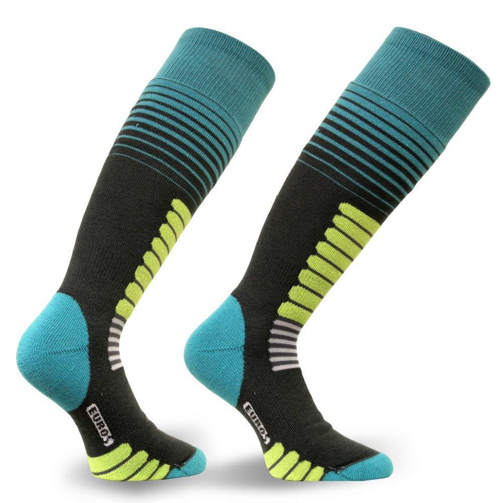 Gray//Jade Small Eurosock Zone Ski Socks