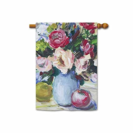 Amazon Kafepross Painting Fresh Roses In A Vase Apples On The