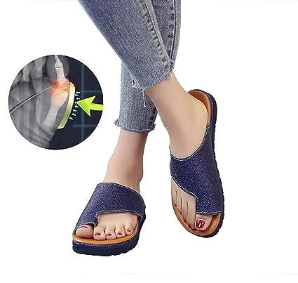YLLX Zapatos Sandalias De Mujer Cómodos Plataforma Corrector De Juanetes Sandalias Correctoras De Hueso Grande del