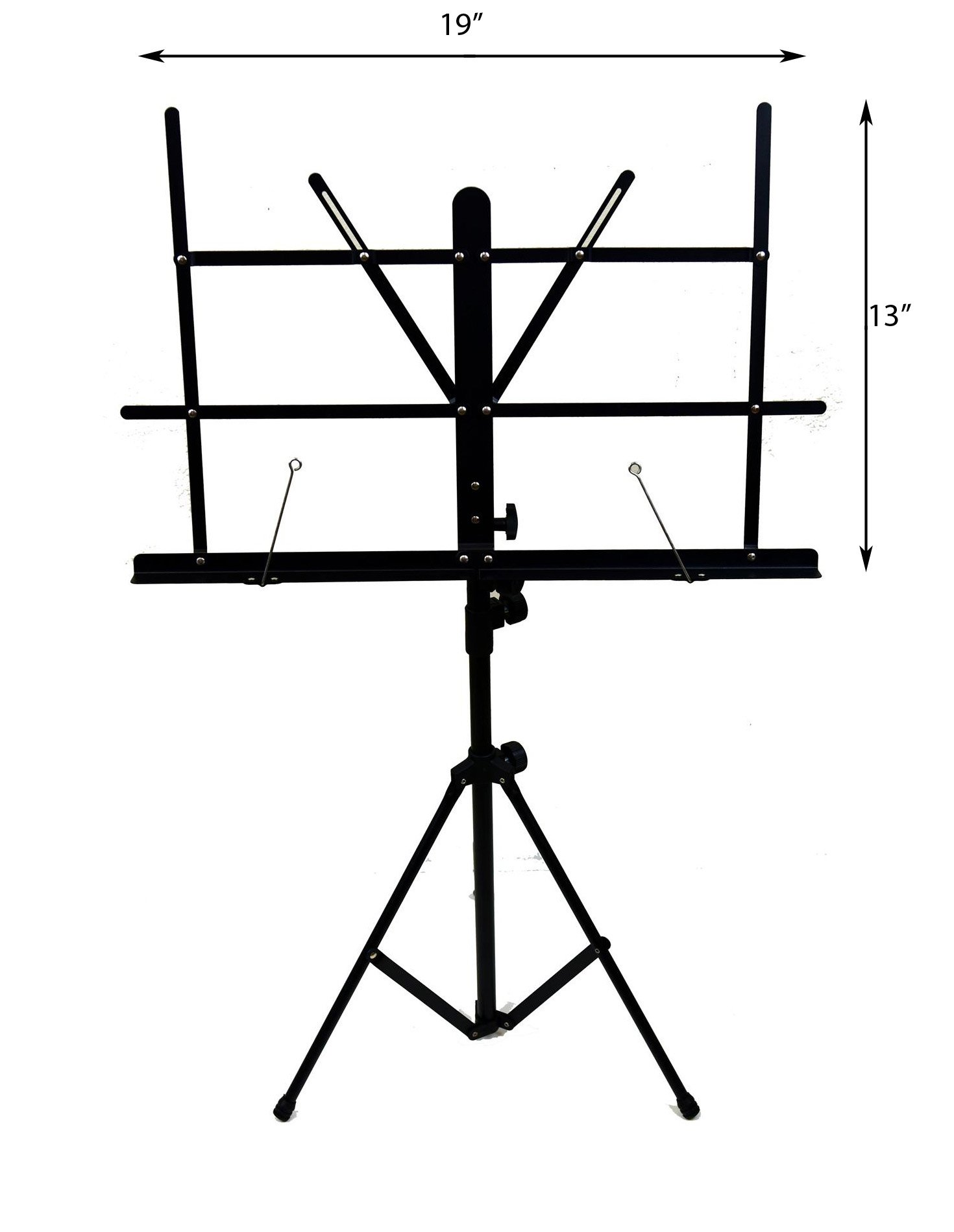 Hisonic Signature Series 7121 Two Section Folding Music Stand with Carrying Bag by Signature Music Instruments (Image #3)