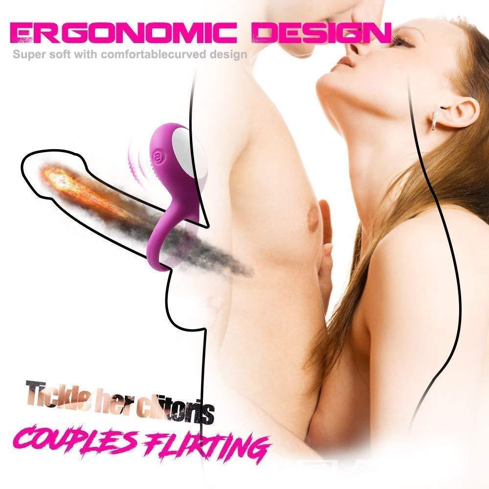 Male Pênnǐs Longer Lasting Ring víbrátór Adult Couple Toy for Men víbrátór Delay Éjáculátíón Érótí~c Sleeve (Color : Purple)