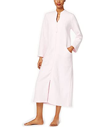 aa596a8fa96a Charter Club Women's Quilted Zip-Front Long Robe at Amazon Women's Clothing  store: